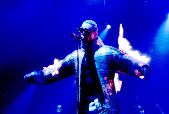 Till Lindemann mit Rammstein am 01.09.98 in Chicago.