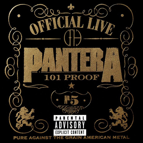 Pantera, Official Live, 101 Proof, Cover
