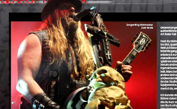 Zakk Wylde im Gear Of The Dark