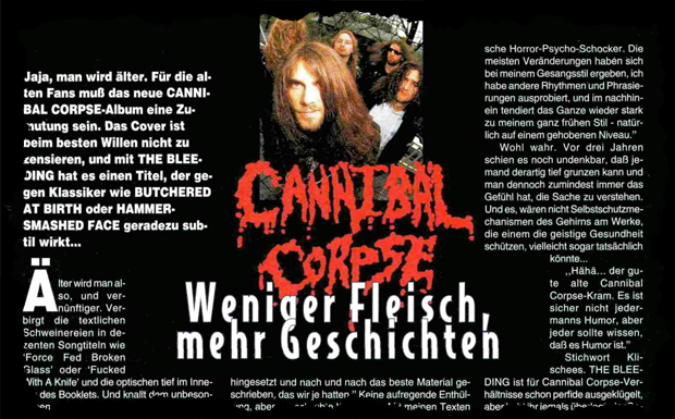 Cannibal Corpse, Interview aus Heft 5/1994