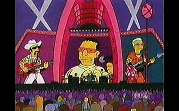 U2 bei den Simpsons