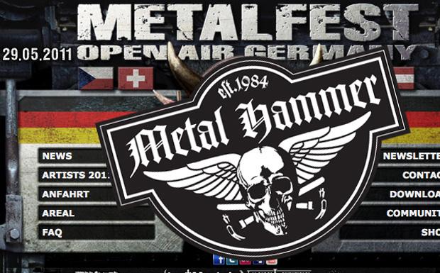 Metal Hammer beim Metalfest 2011 in Dessau
