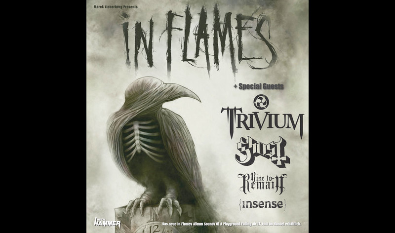 Tourposter zu In Flames + Trivium + Ghost + Rise To Remain