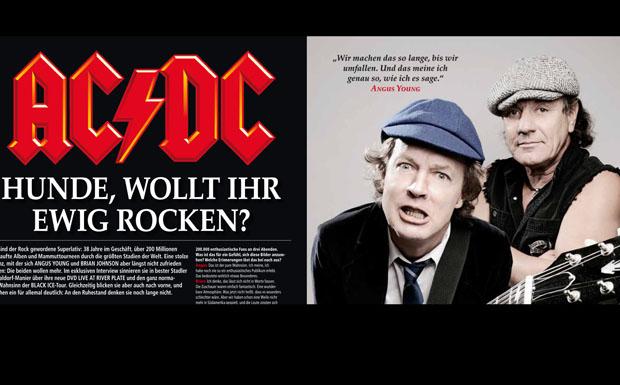 AC/DC Titelgeschichte im Metal Hammer, Juli 2011