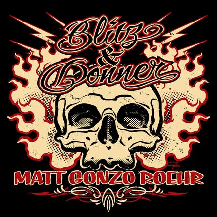Matt Gonzo Roehr, Blitz und Donner, Cover