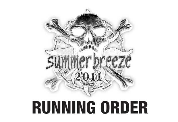 Summer Breeze 2011, Running Order