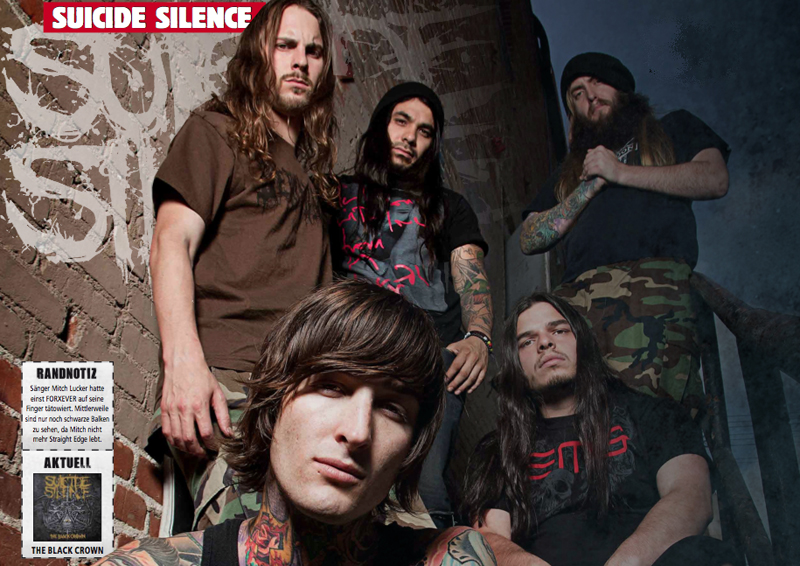 Suicide Silence im Metal Hammer 08/2011