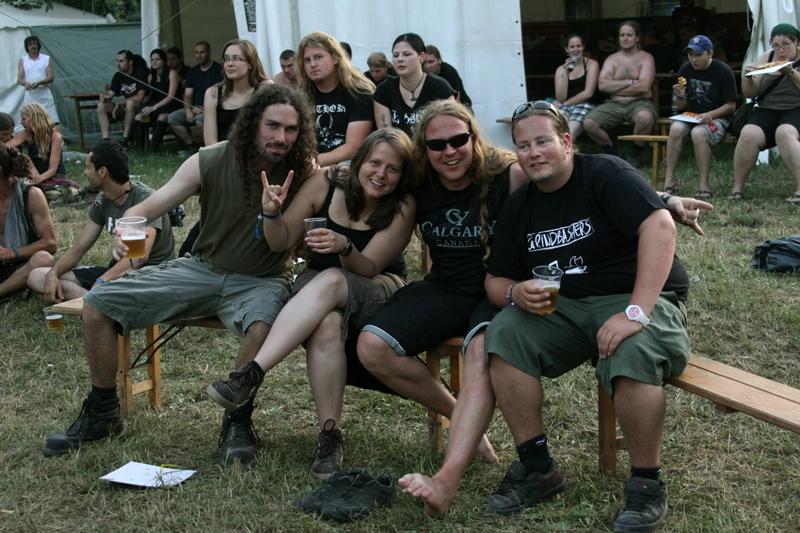 Glückliche Fans beim Metalcamp 2011, Tolmin, Slowenien