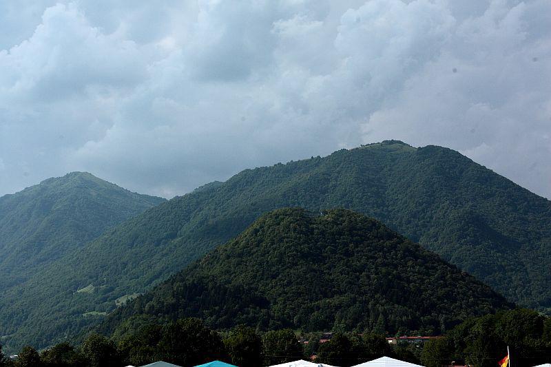 Das malerische Gelände des Metalcamp 2011, Tolmin, Slowenien