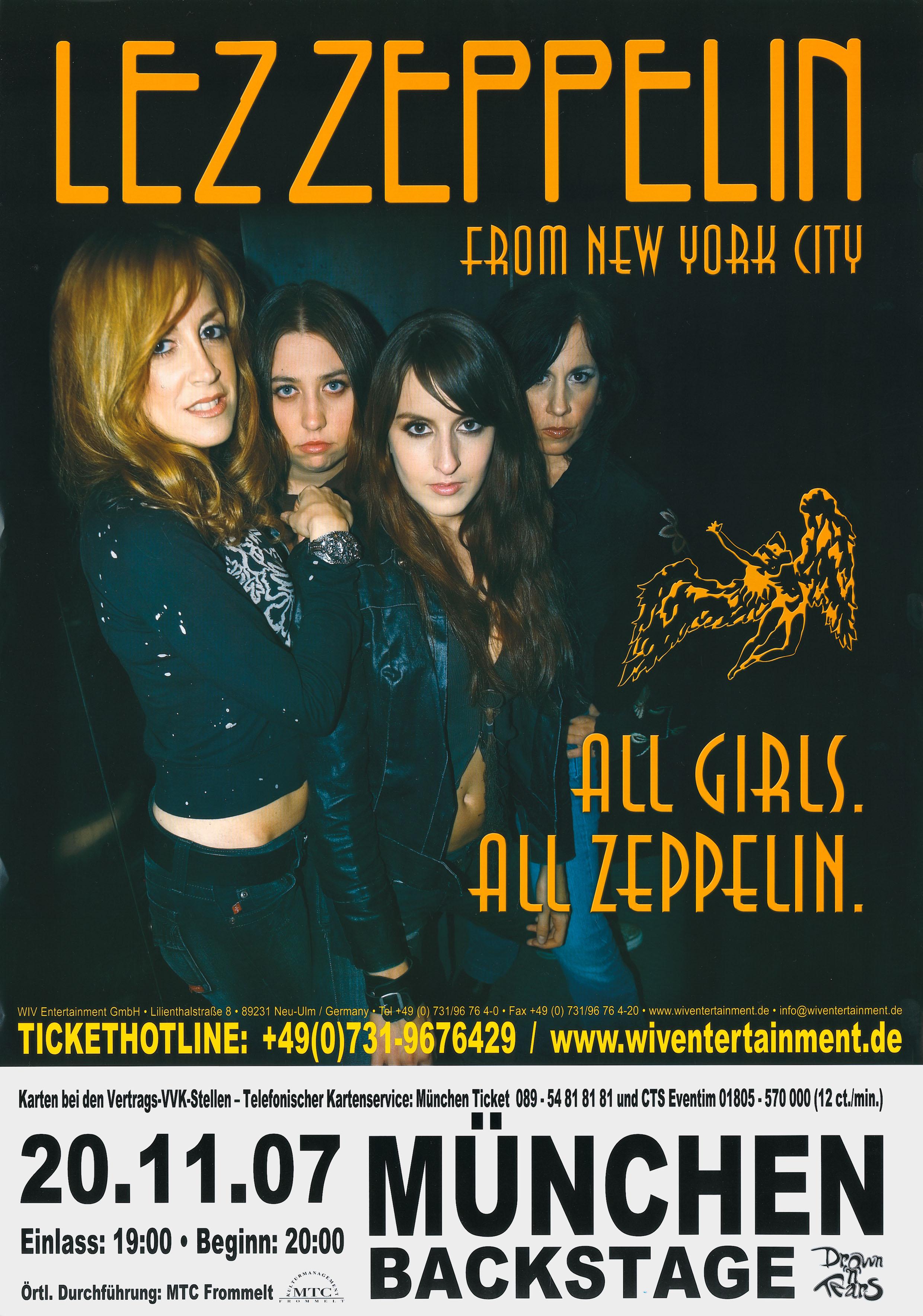 Lez Zeppelin Tourplakat