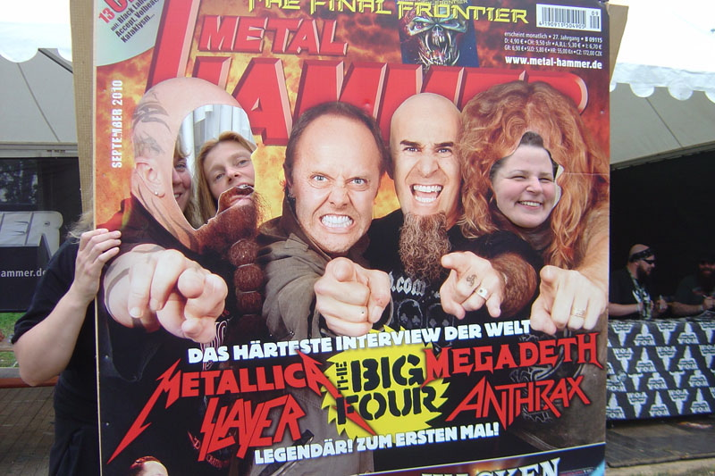 METAL HAMMER Big Four Aufsteller beim Wacken 2011