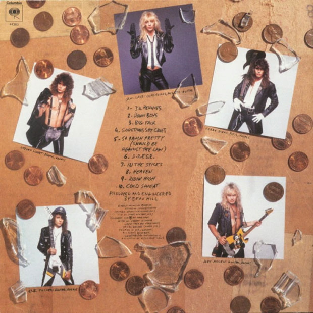 Warrant, Back-Cover