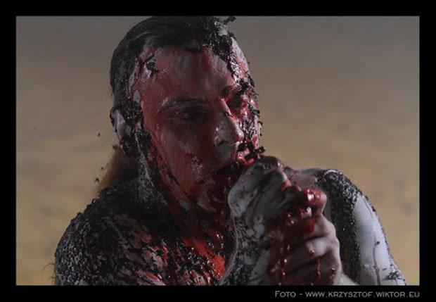 Behemoth beim Video-Dreh zum Song Lucifer