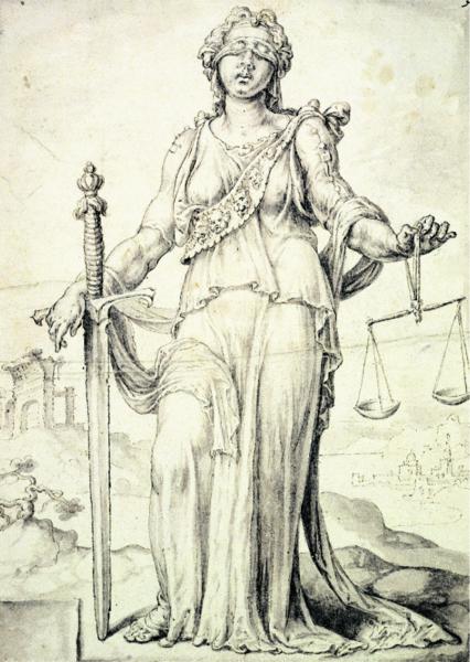 Iustitia, Göttin der Gerechtigkeit