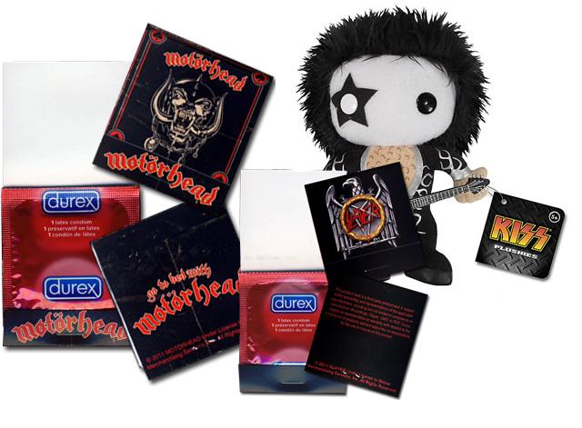 Merchandise von Kiss, Slayer und Motörhead