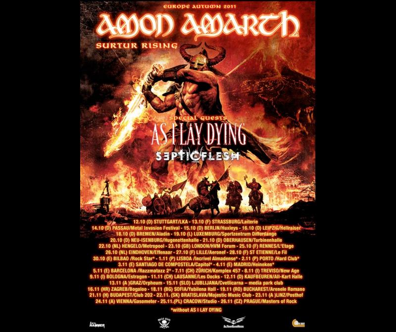 Amon Amarth und As I Lay Dying auf einer Tour