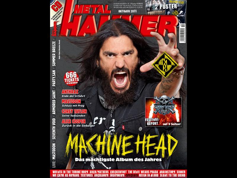 Machine Head auf dem Metal Hammer Cover im Oktober 2011