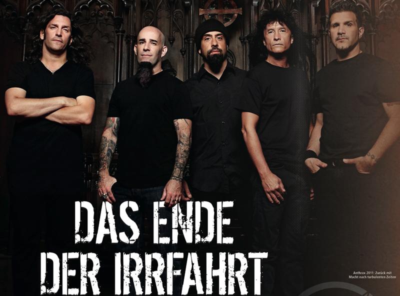Anthrax im Metal HAmmer Oktober-Heft