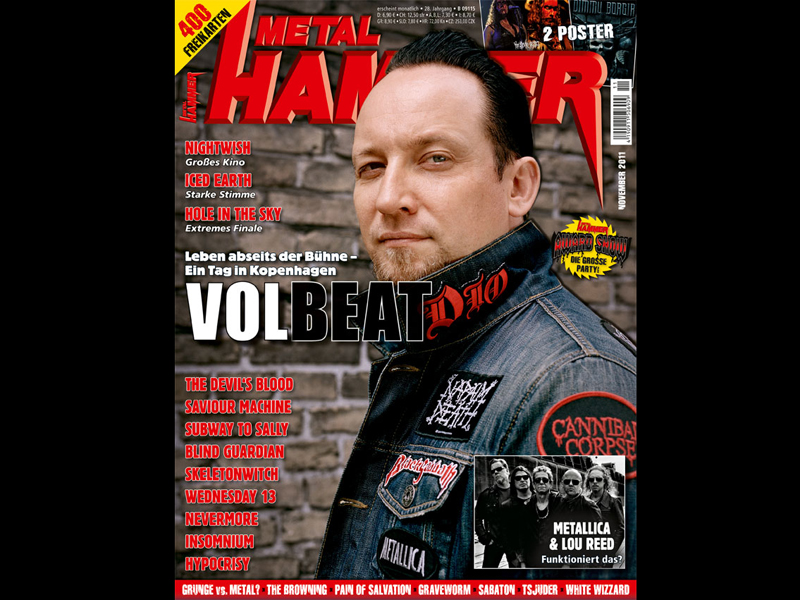 Volbeat auf dem Cover der Metal Hammer November-Ausgabe