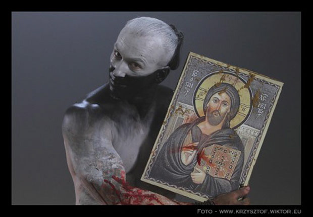 Behemoth beim Video-Dreh zum Song Lucifer