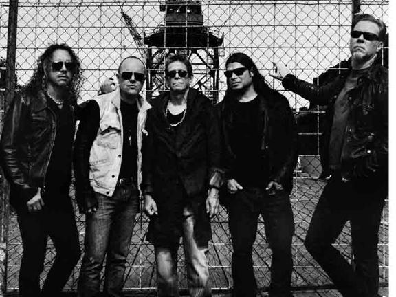 Metallica mit Lou Reed, Promo Bild, 2011