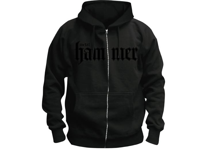 Metal Hammer Hoodie, Special Edition, schwarz auf schwarz