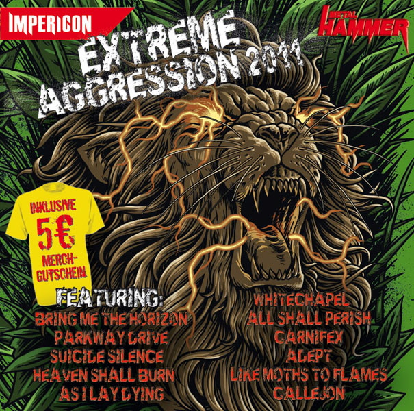 Extreme Aggression 2011, Sampler, Cover