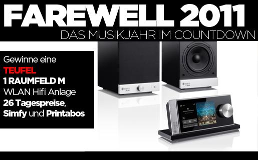 Farewell 2011, Abschiedsaktion mit großen Gewinnen