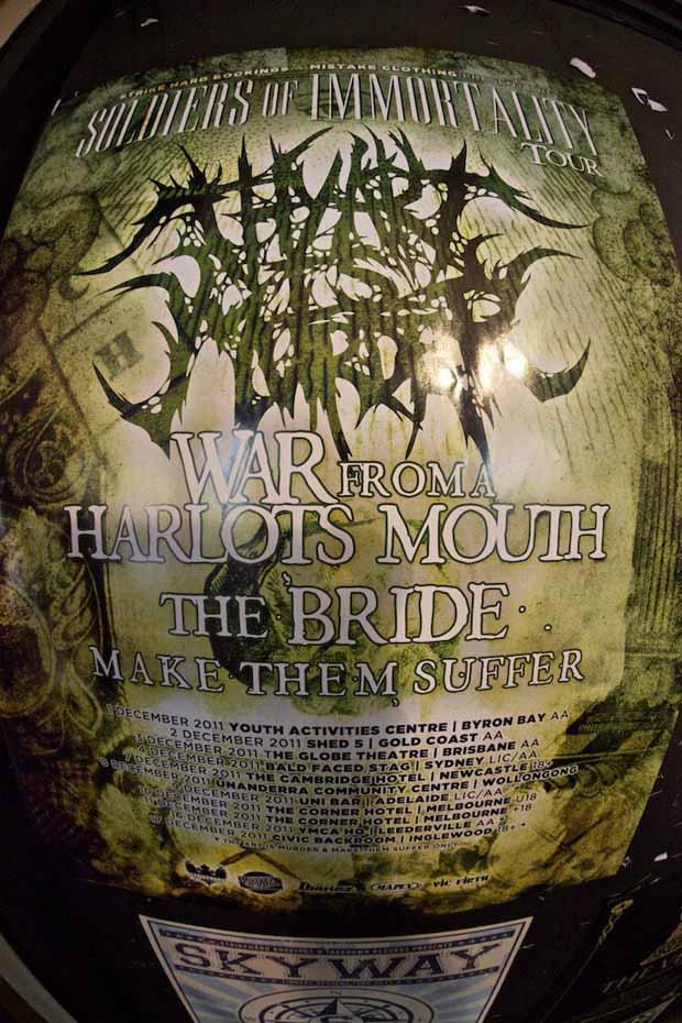 War From A Harlots Mouth berichten von ihrer Australien-Tour 2011