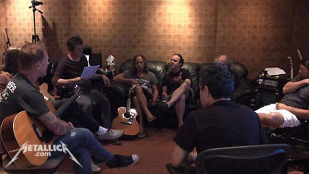 Metallica im Studio mit Lou Reed, 2011