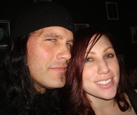 Phil Demmel (Machine Head) und Marta Peterson (Bleeding Through)