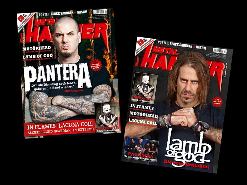 Pantera und Lamb Of God - Doppeltitel der Februar-Ausgabe 2012
