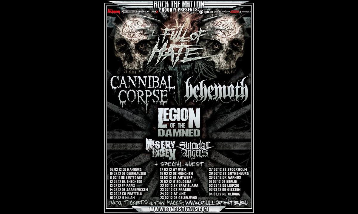 Full Of Hate Tour 2012, Tourposter