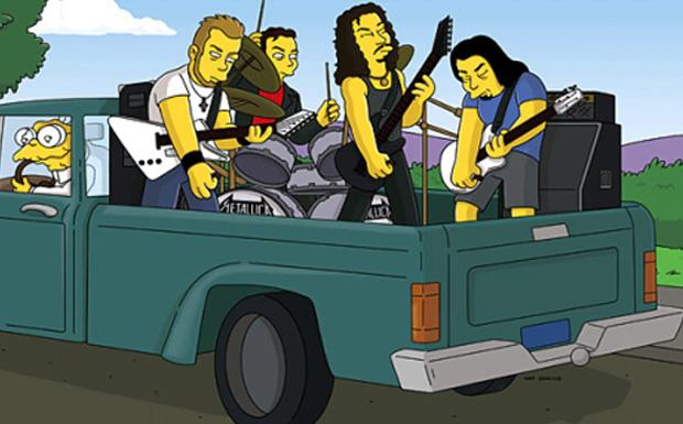 Metallica bei den Simpsons