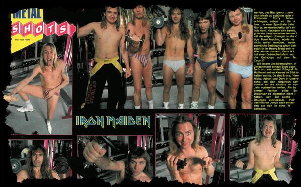 Iron Maiden in den 80ern - sportlich