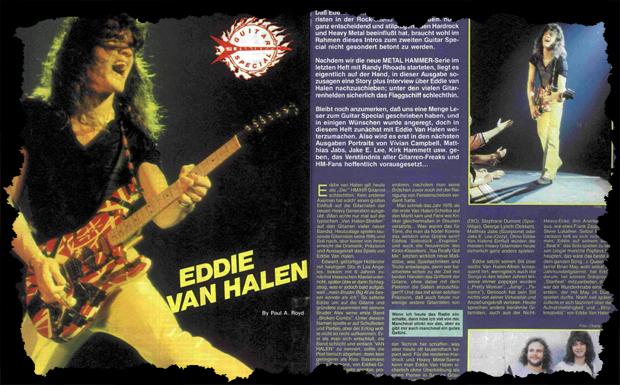 Eddie Van Halen Interview Ausriss 1985