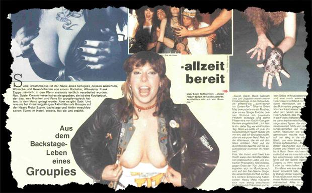 Das Backstageleben eines Groupies Ausriss 1987