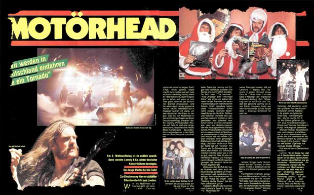 Motörhead Feature Ausriss 1985