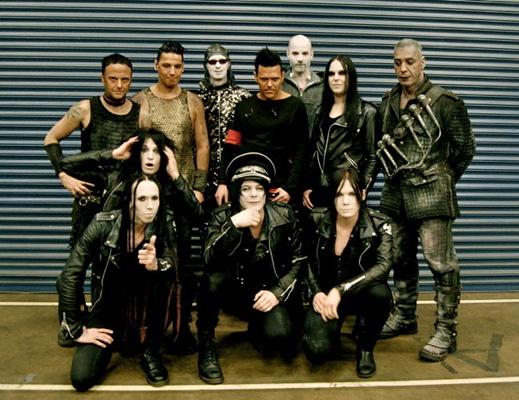 Deathstars auf Tour mit Rammstein 2012