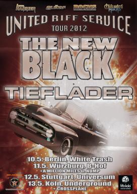 The New Black + Tieflader, Tourposter 2012