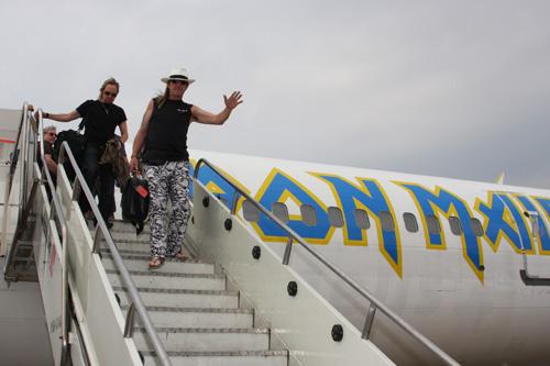 März 2009, mit der Ed Force One nach Brasilien