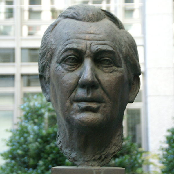 Axel Springer, verewigt in Bronze