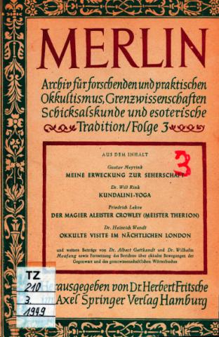 Okkult-Zeitschrift 'Merlin', von Axel Springer