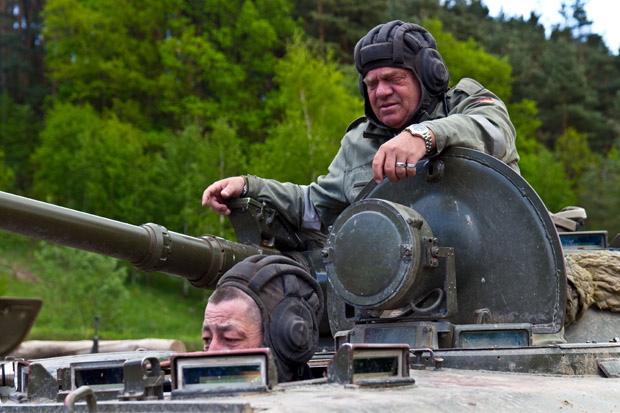 Mit Udo Dirkschneider auf Panzerfahrt