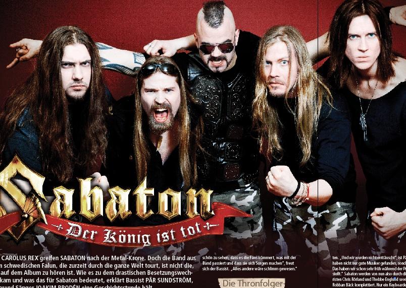 Sabaton im METAL HAMMER 06/2012