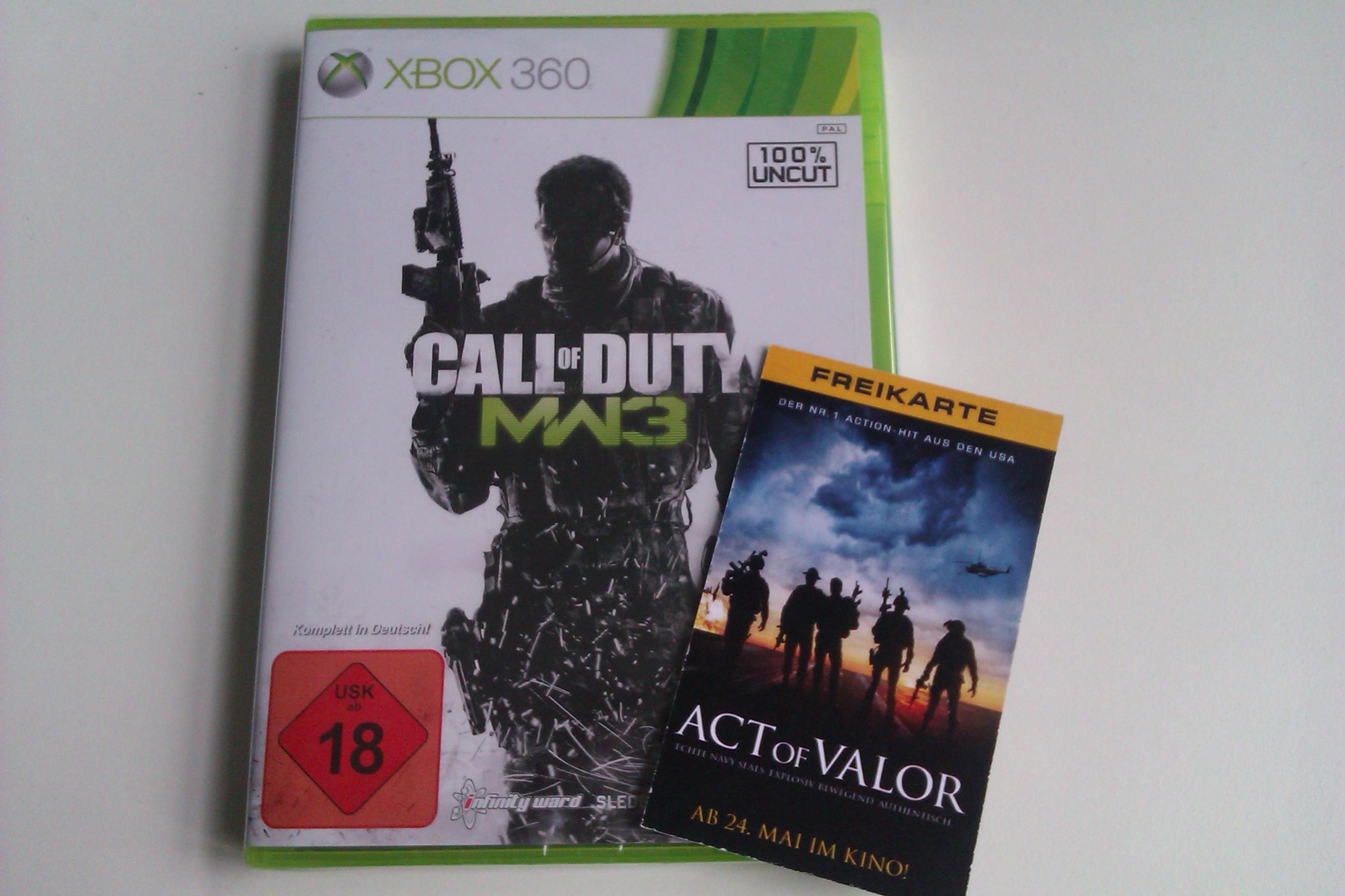 Gewinnt Call Of Duty: Modern Warfare 3 und Act Of Valor