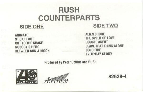 Rush - Counterparts