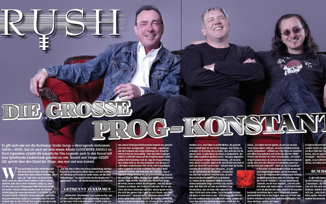 Rush in METAL HAMMER-Ausgabe 07/2012