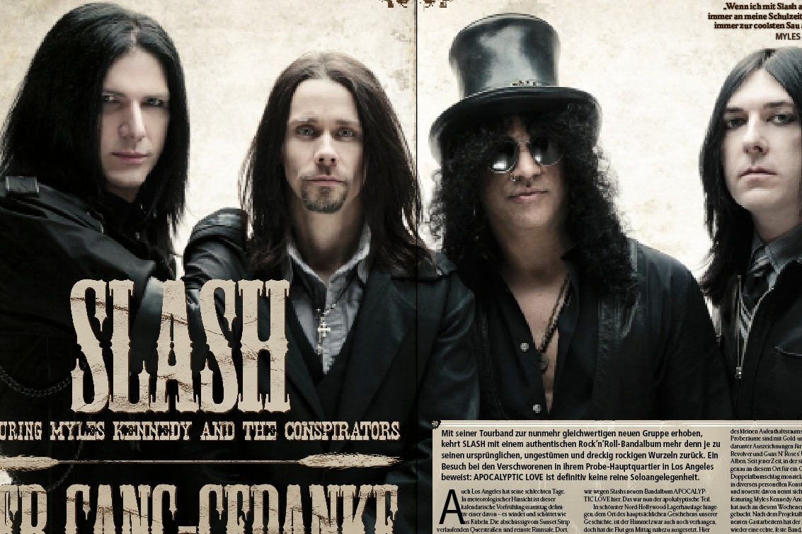 Slash im METAL HAMMER 06/2012