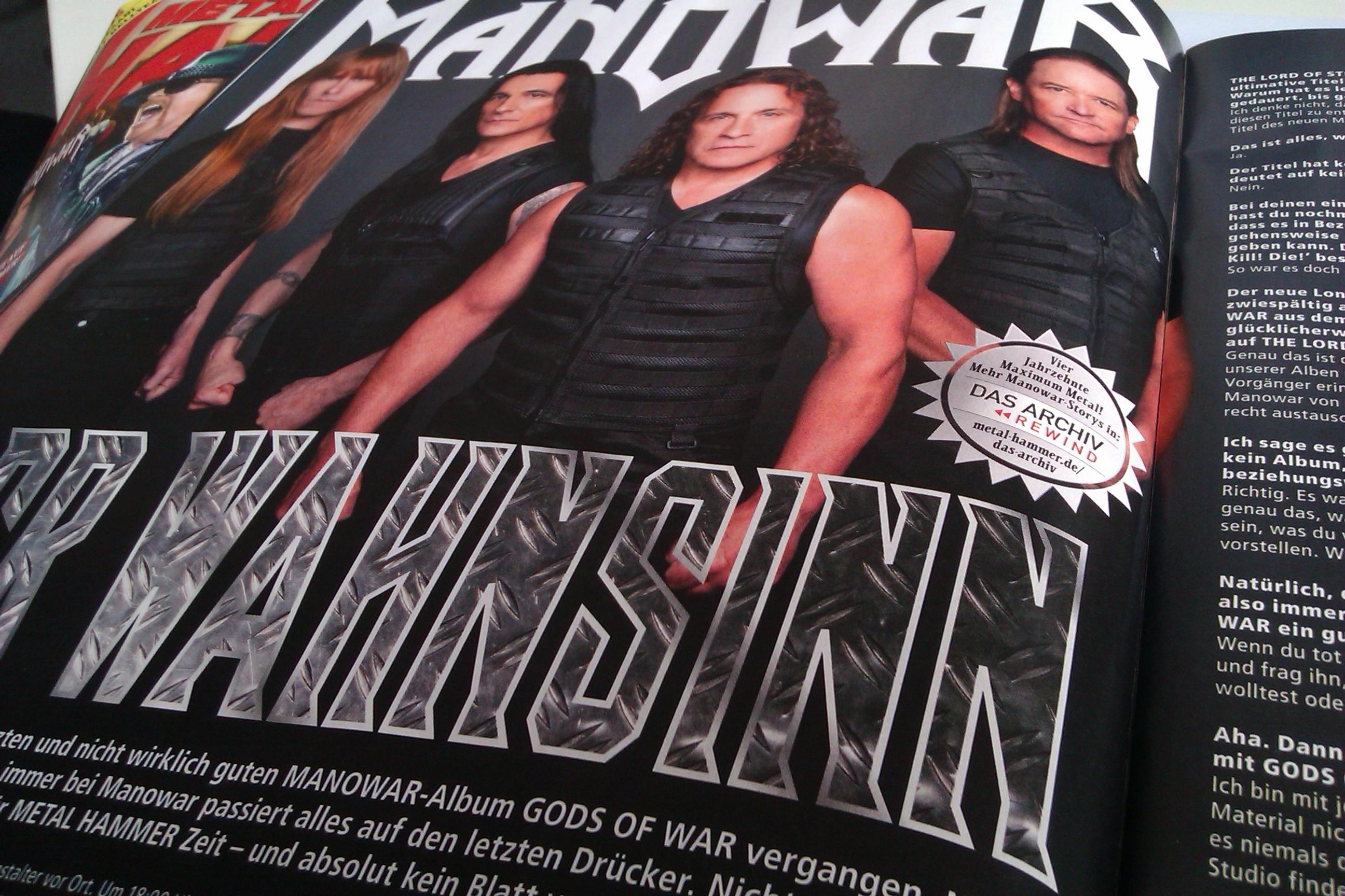 Manowar in METAL HAMMER-Ausgabe 08/2012